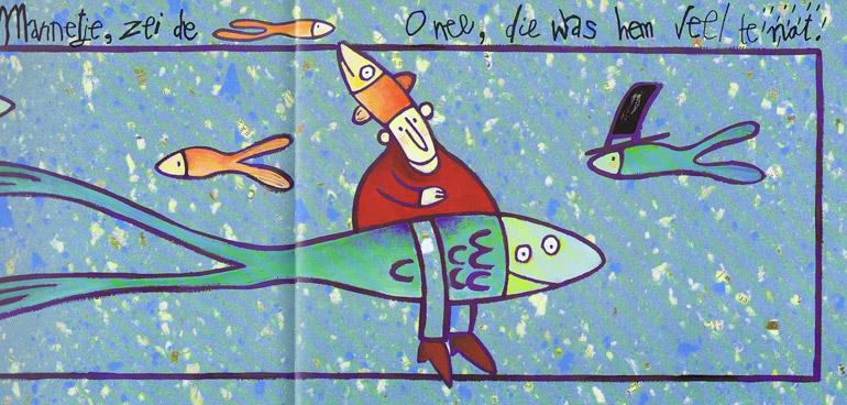 Mannetje zoekt een nieuwe hoed, vissen